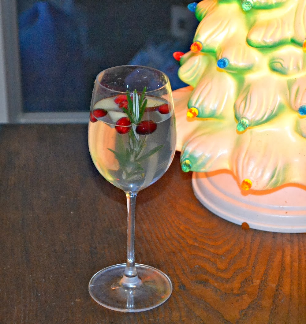 Holiday Sangria with White Wine, Cranberries, and Rosemary
