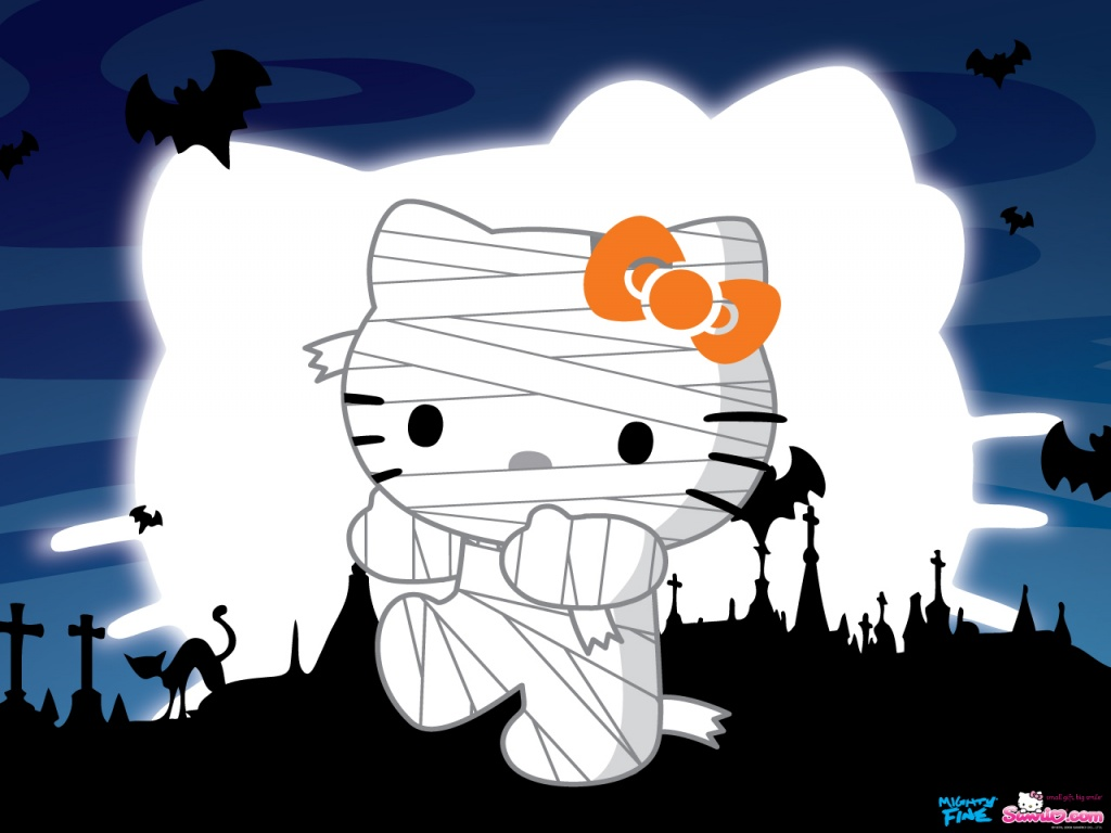 Meisie 39 s nails hello kitty halloween - Hello kitty halloween ...