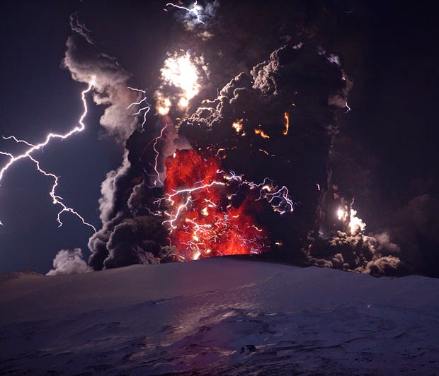Eruption Volcano Eyjafjallajökull