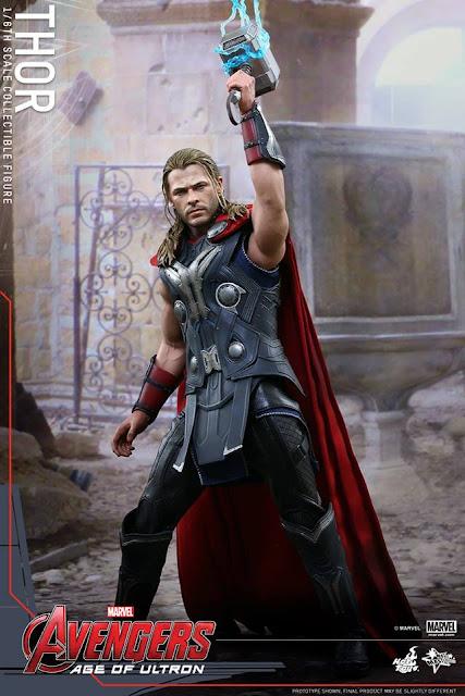 Hot Toys Thor Avengers Age of Ultron Mjolnir Lightning Effect