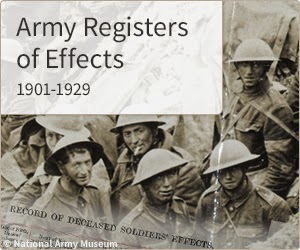 British Army effects 1901-1929