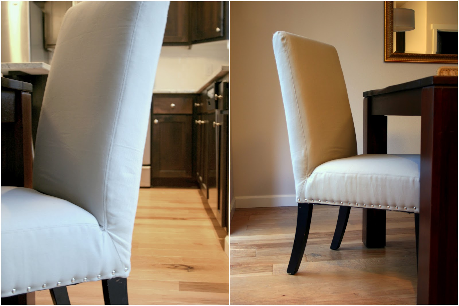 Diy Upholstered Dining Chairs so proud of my little upholstery project. nailhead parsons chairs