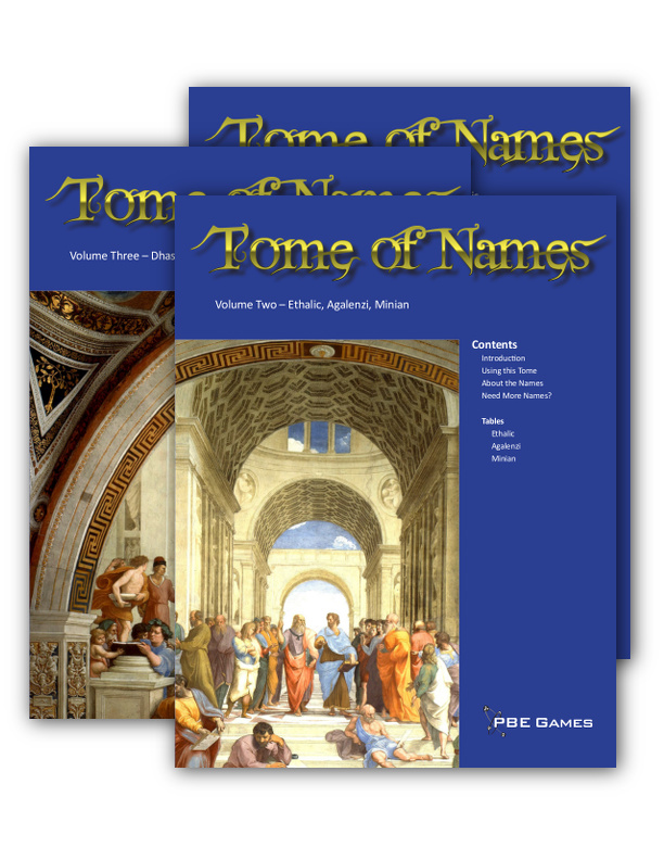 Random Diversions: Library of Names Now Available!