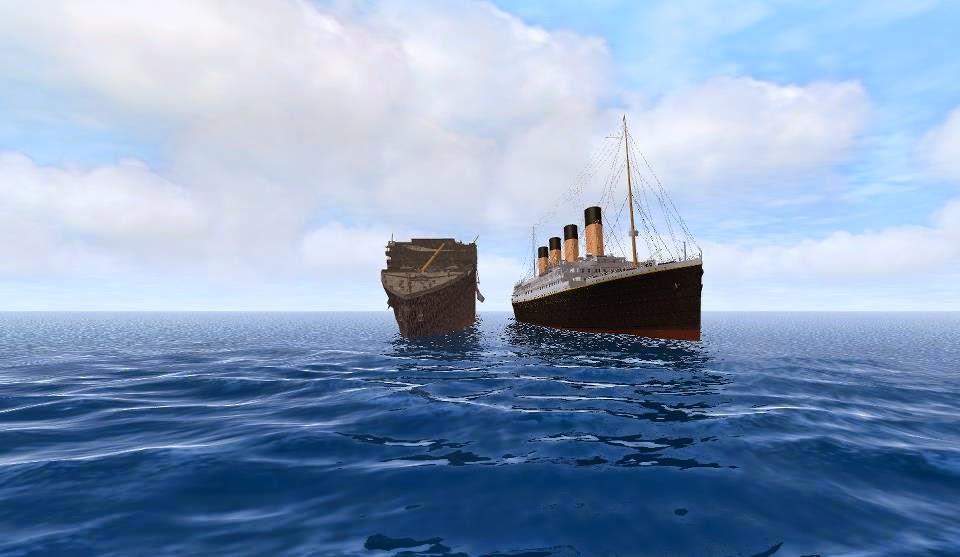 Titanic Toy Ship Sinking. Titanic Submersible Model Demonstration YouTube. Lego Titanic Depicts ...