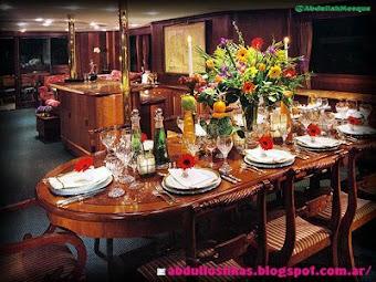 La mesa del Harîm حريم lista, esperando...