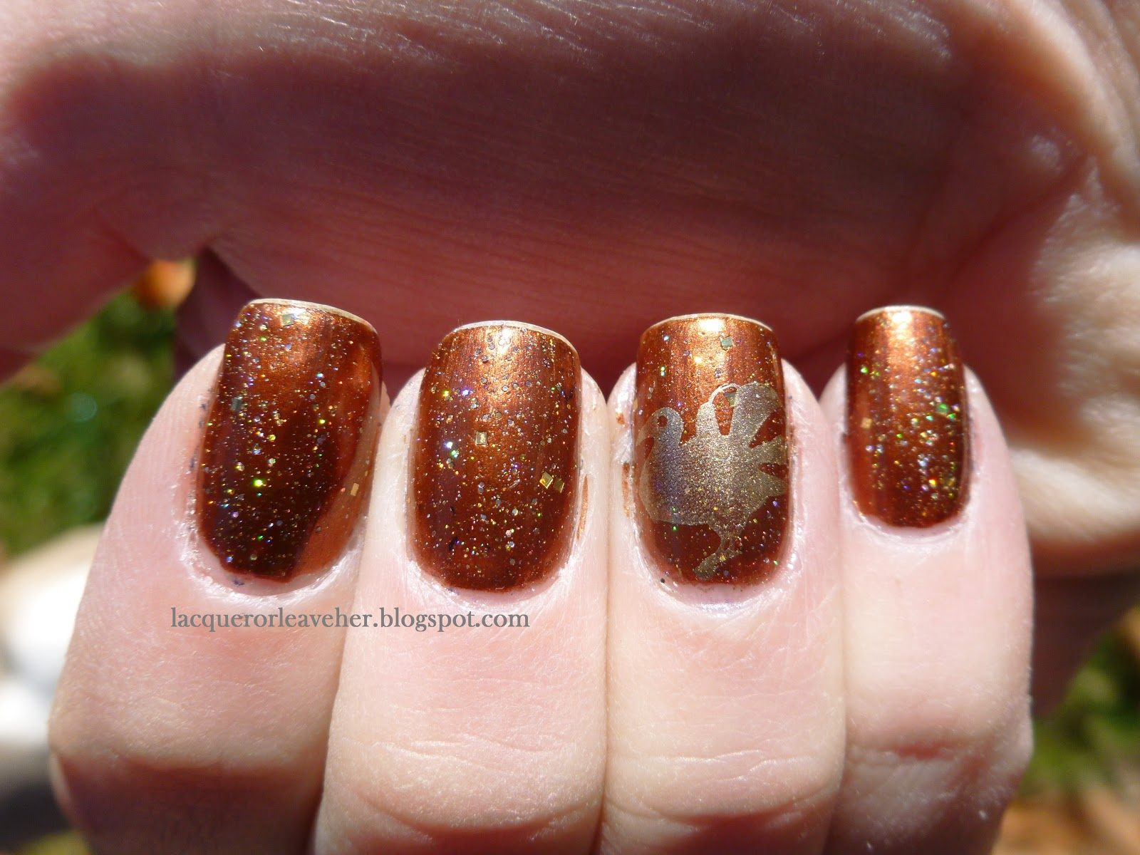Simple Thanksgiving Nail Designs