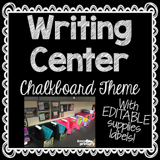 https://www.teacherspayteachers.com/Product/Writing-Center-Startup-Kit-Chalkboard-Theme-1997889