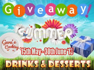 Giveaway & Summer @Guru's Cooking