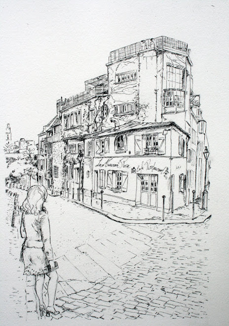 Carnet de voyage, La Maison Rose, Paris 18e