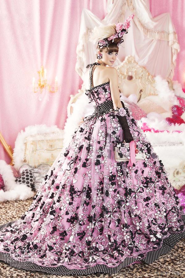 Glamour and bold flava beautiful girl pink wedding dresses for Pink and blue wedding dresses