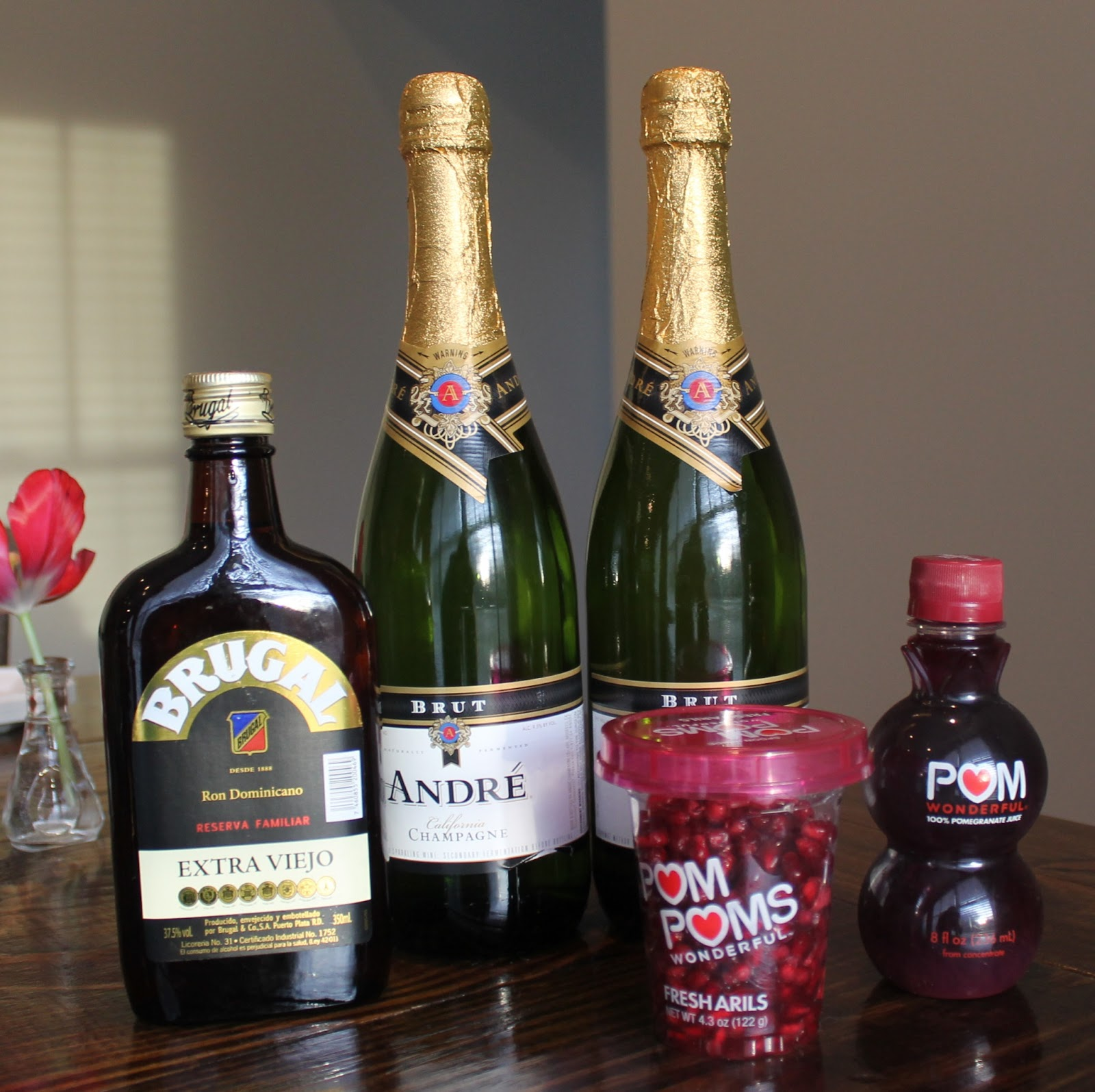 Carolina Charm: Pomegranate Champagne Punch