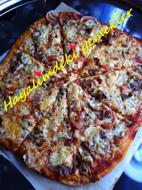 Dönerli Pizza Tarifi,resimli Dönerli Pizza nasil yapilir
