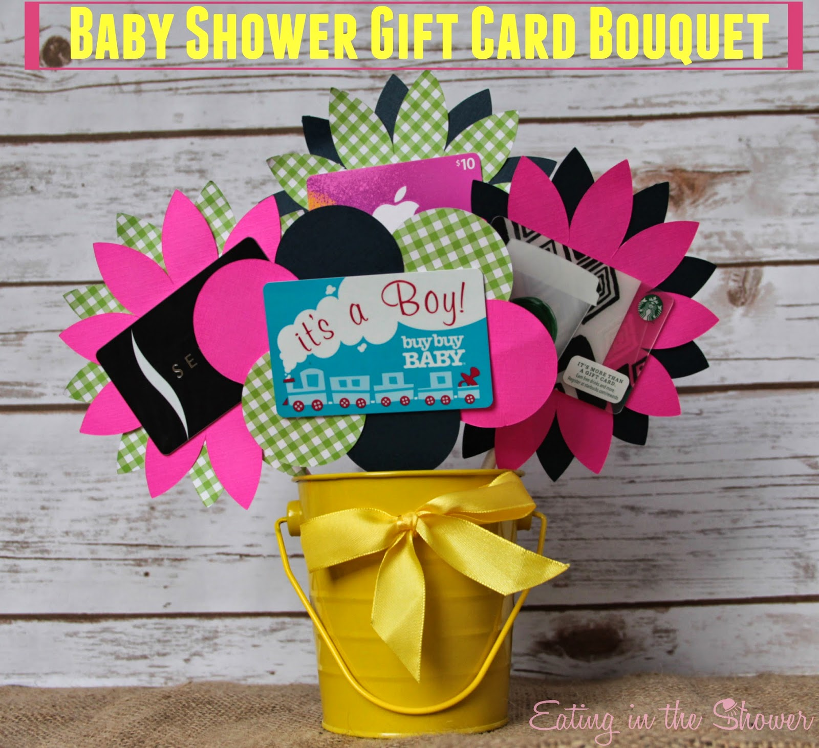 Eating in the shower baby shower gift card bouquet for the mom to be baby shower gift card bouquet for the mom to be negle Choice Image