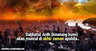 Binatang Bumi (Dabbatul Ardh) akan muncul di akhir zaman apabila...
