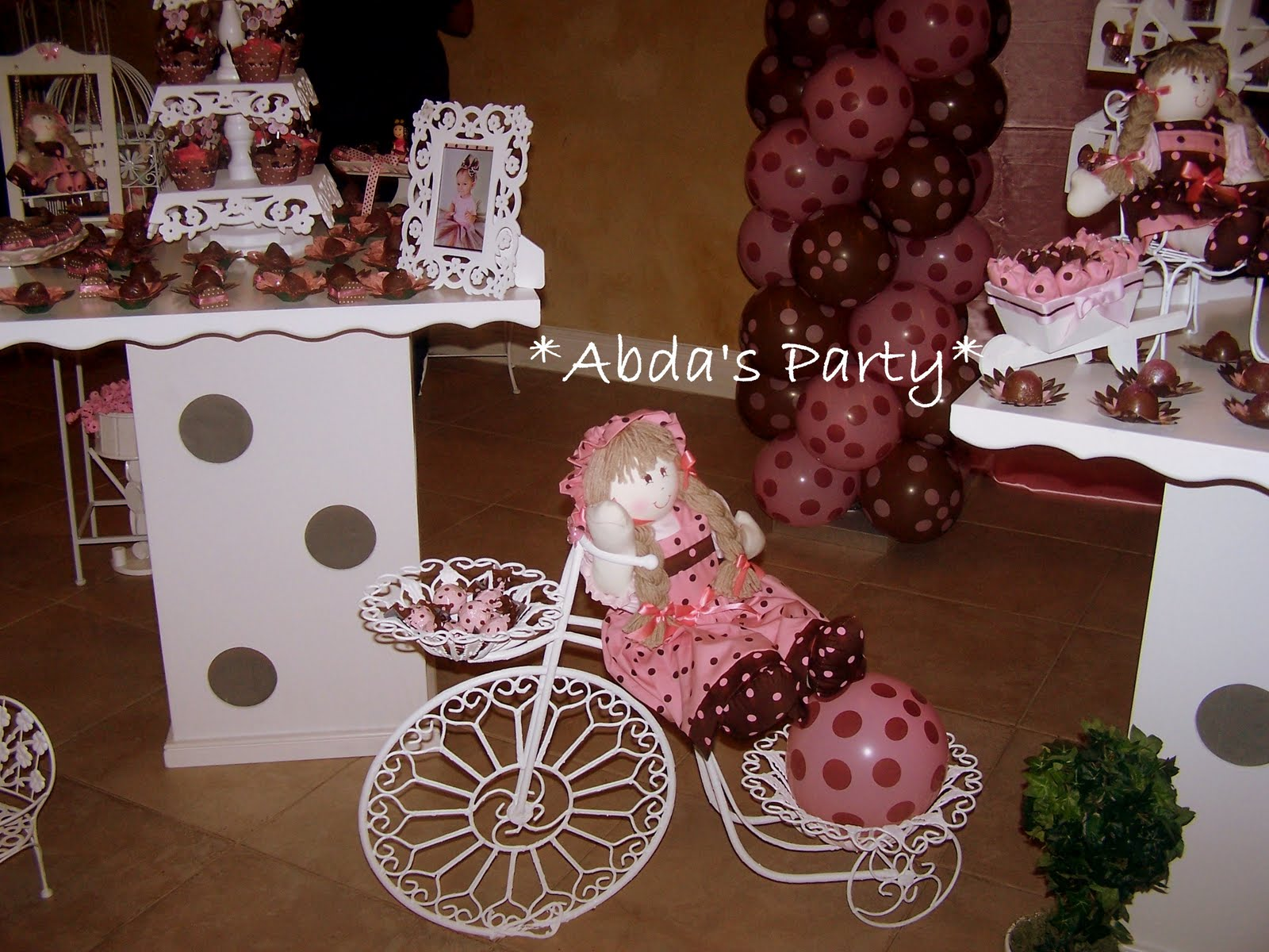 Abda S Party Decorations Pink And Brown Party