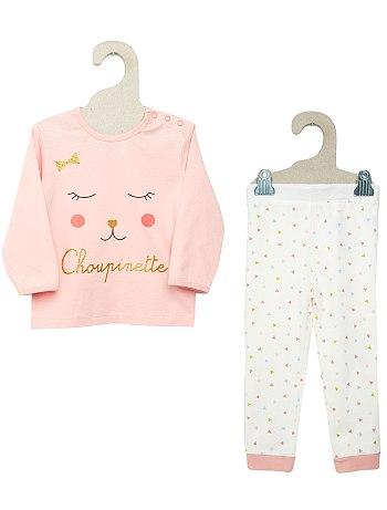 Pyjama petite fille kiabi imprimé choupinette