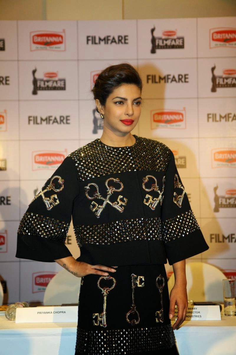 Priyanka Chopra looking gorgeous at press conference of the '60th Britannia Filmfare Awards 2014'