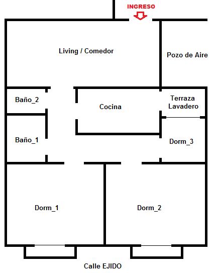 Apartamento en el Centro para alquilar