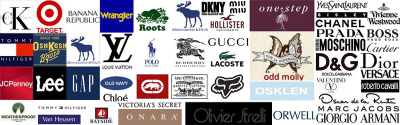 Apparel Merchandising World Famous Clothing Fashion Brands