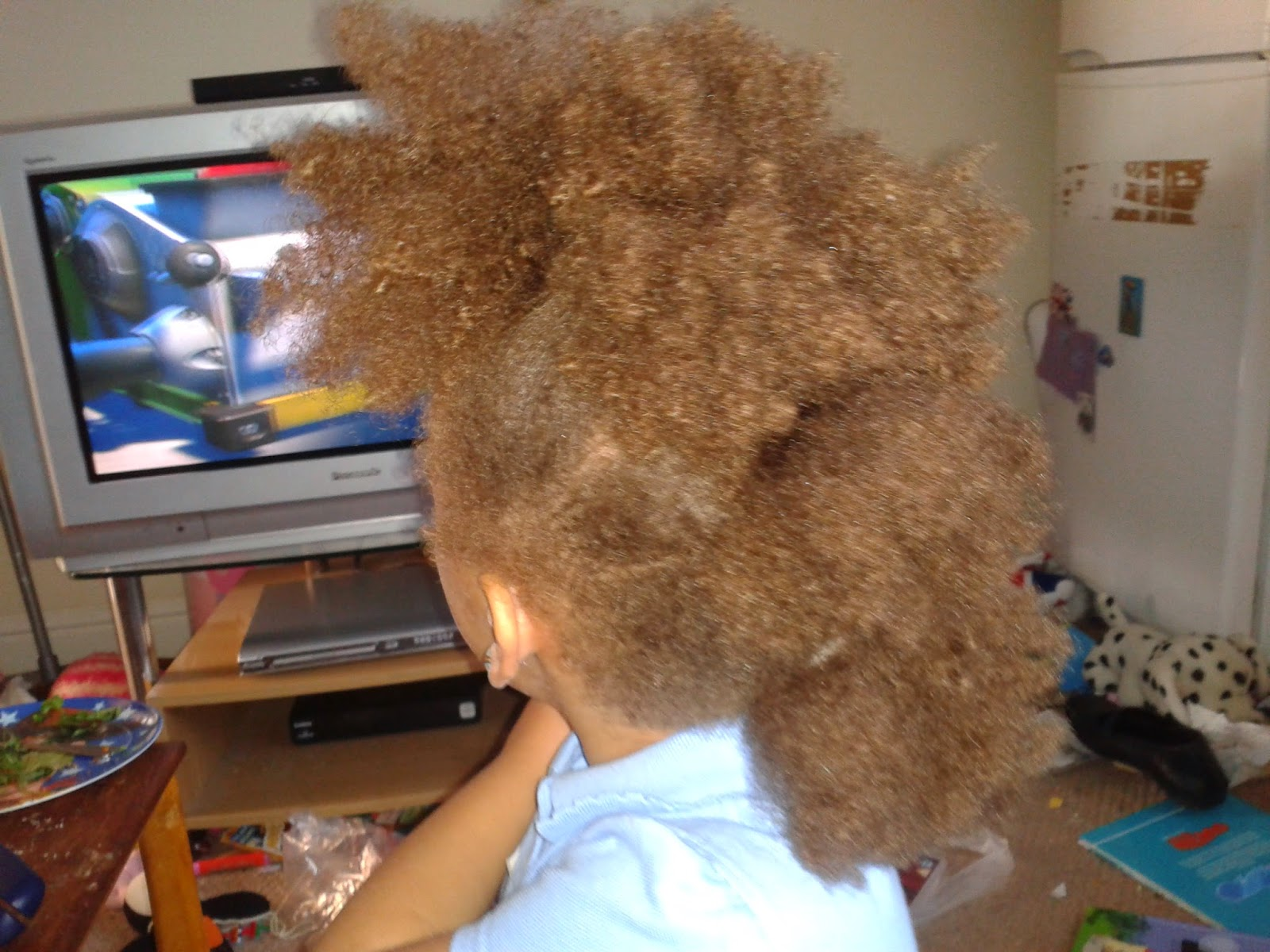 a close up of madam's hair showing it styled in a frohican