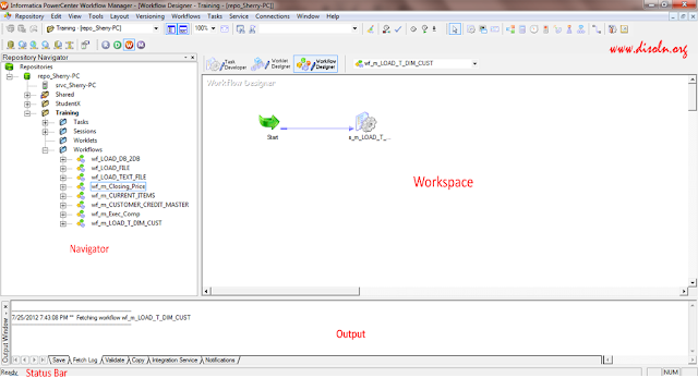 Informatica Powercenter Workflow Manager User Interface
