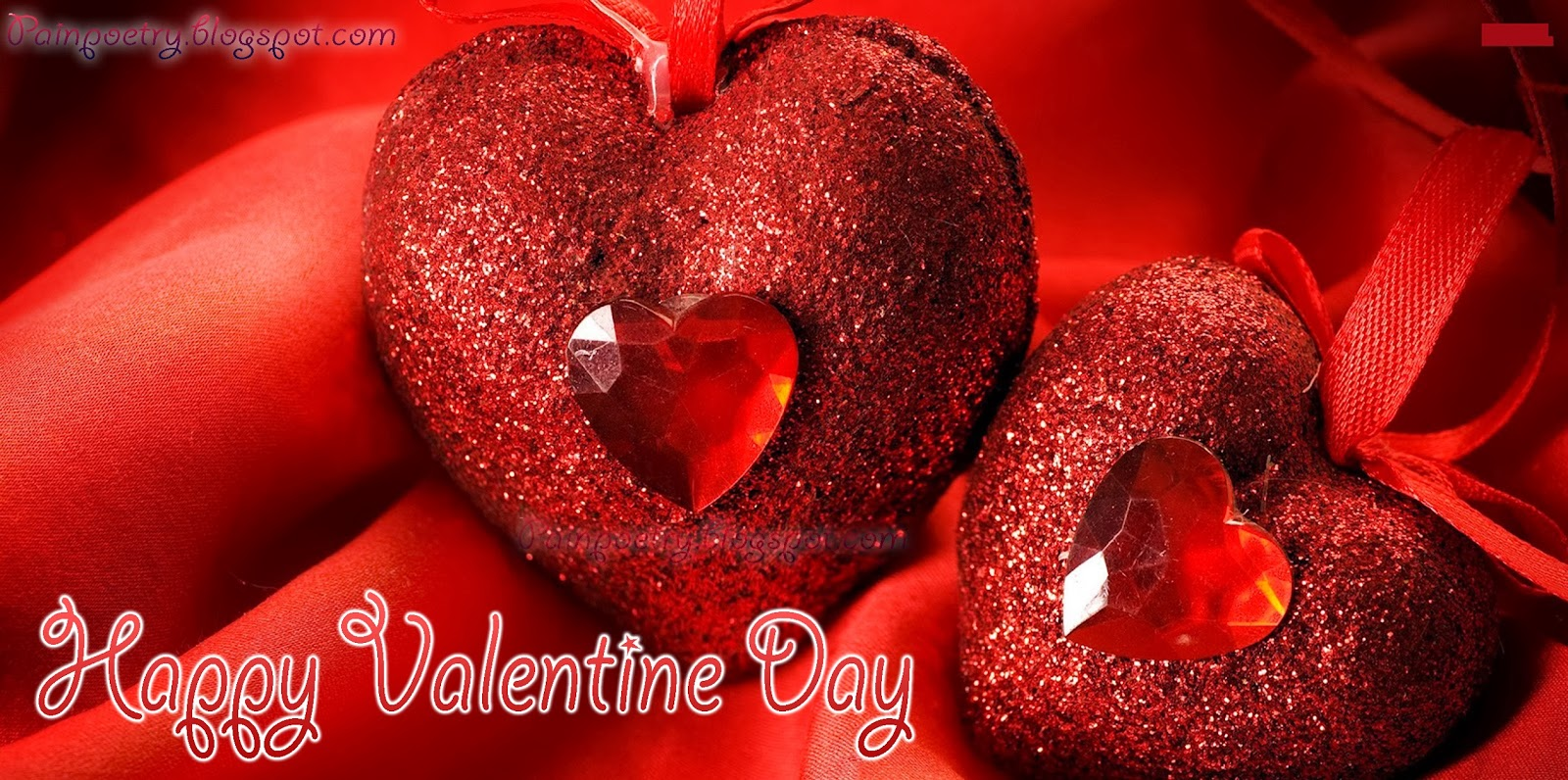 Happy-Valentines-Day-Wishes-Walpaper-With-Two-Loved-Heart-HD