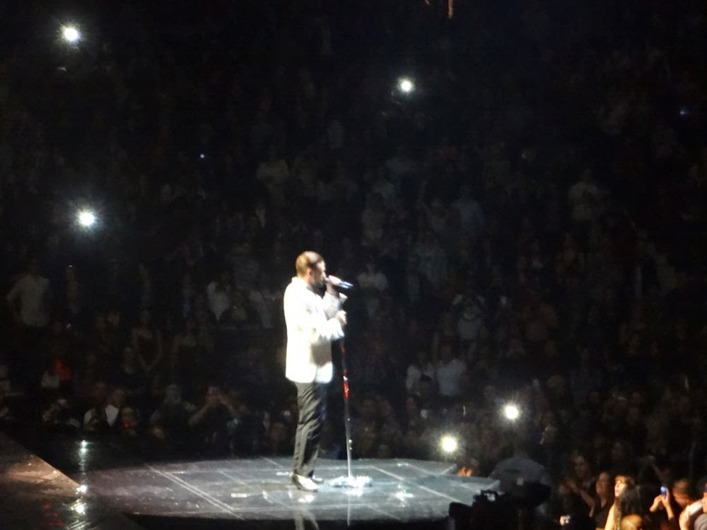 Justin Timberlake performing at Rogers Arena in Vancouver