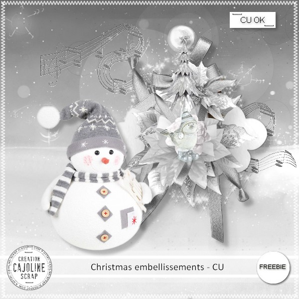 Free digital scrapbook christmas embellishments from Cajoline Ssraps