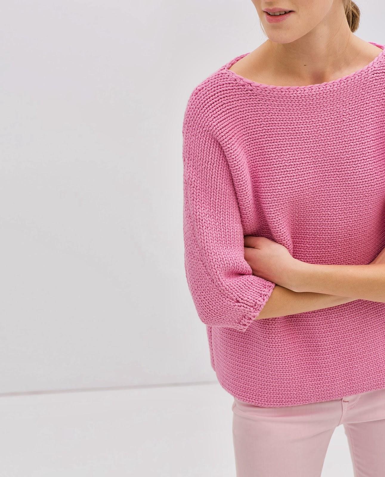 zara pink jumper