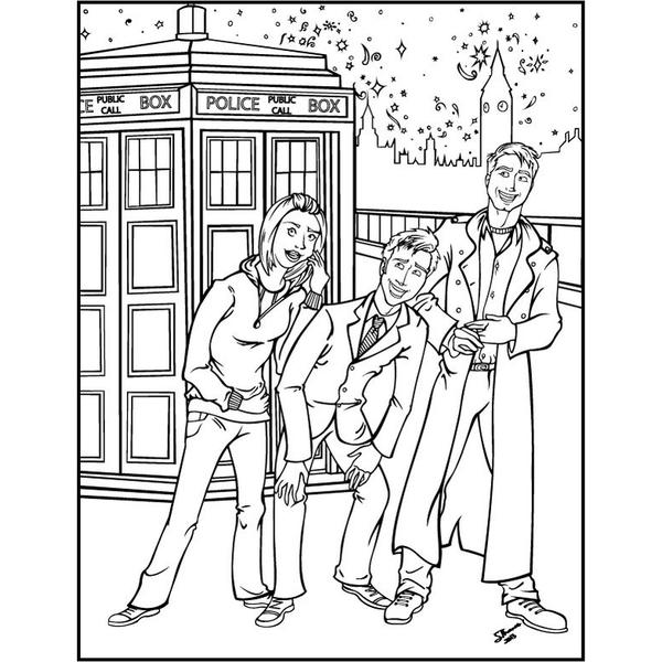Doctor Who Art With 45 Stunning Images To Colour Plus Classic And Timeless Quotes From The Beloved TV Show This Out Of World Colouring Book Is