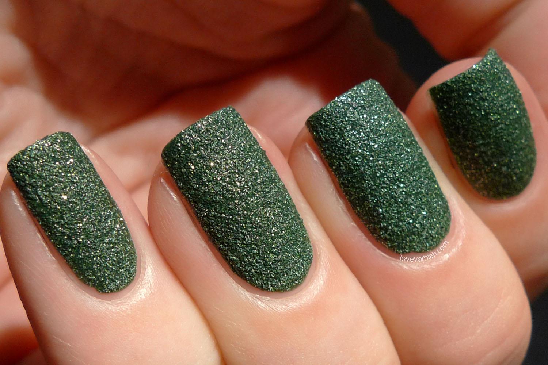 Zoya PixieDust Chita forest green texture sparkle