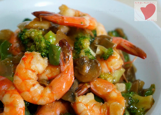 Shrimp and Broccoli in Hoisin Sauce