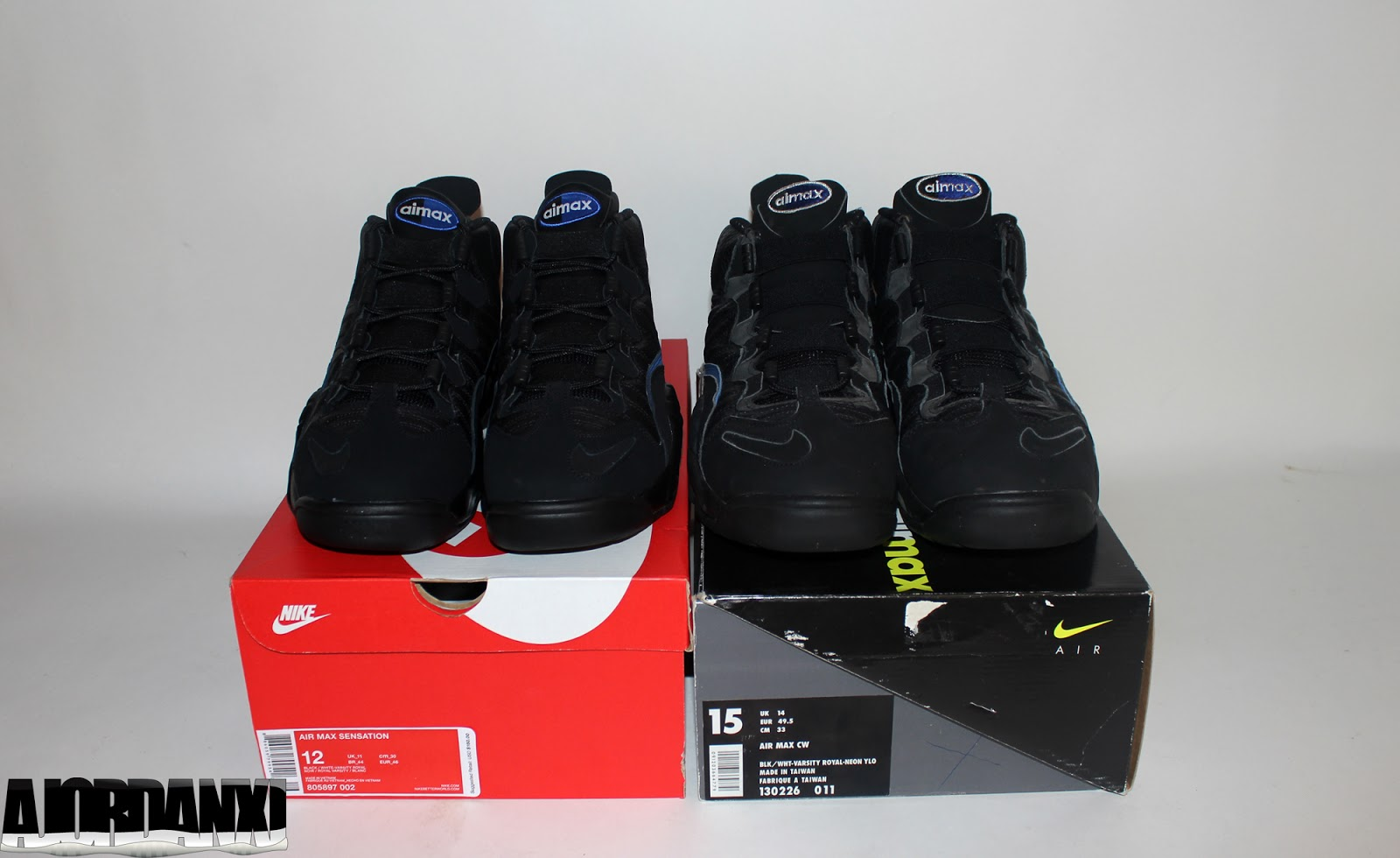 cbc9040acada1f ... Chris Webber). Nike Air Max Sensation Black White-Varsity Royal. (2016  retro)