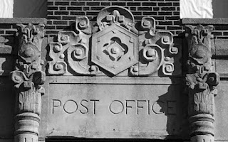 Post Office sign on building in Ohio City
