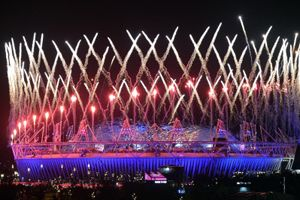 Modern technology turns Olympic stadium into large screen