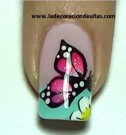 Decoracion de uñas con mariposas | La decoracion de uñas
