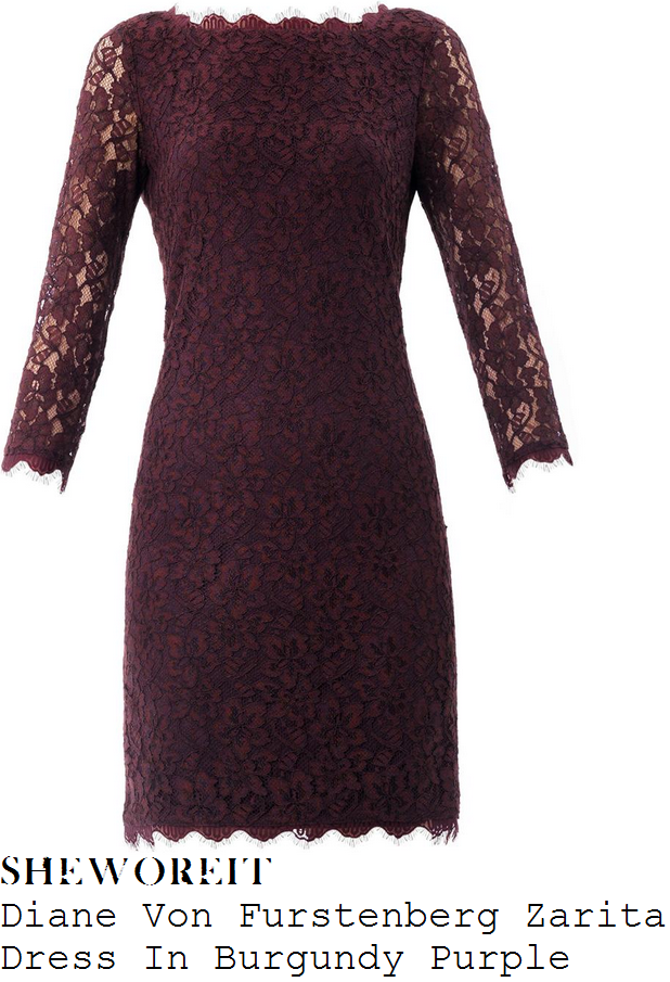 holly-willoughby-burgundy-purple-floral-lace-dress