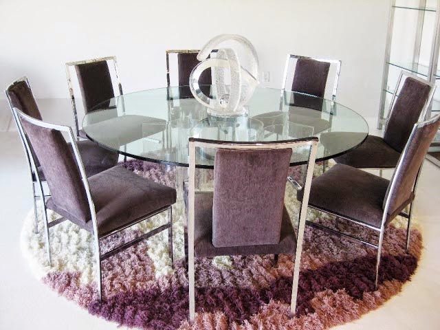 round glass kitchen table