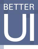Better UI