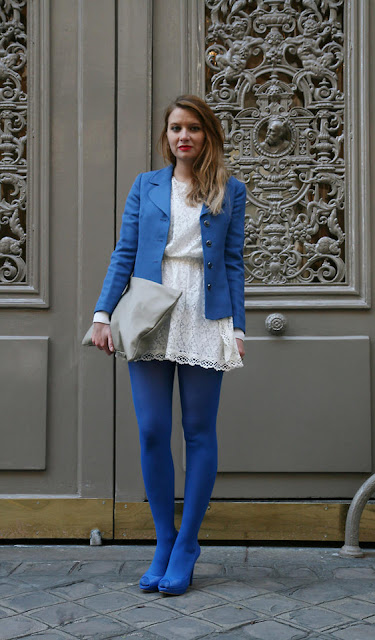 blue tights