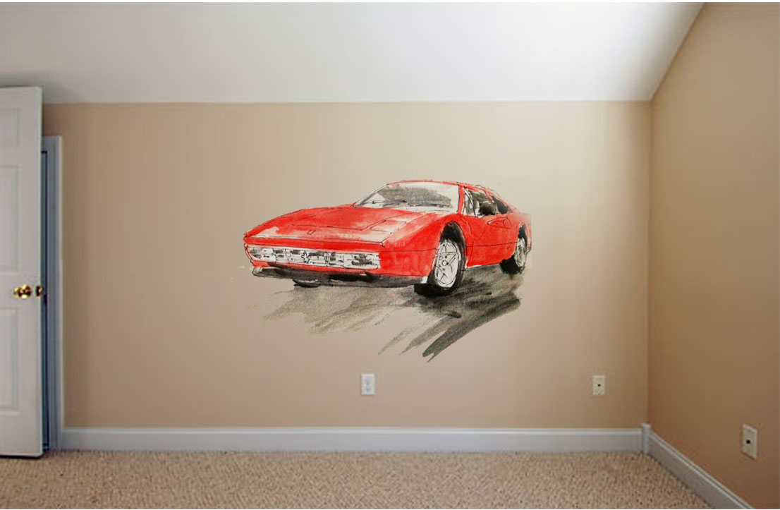 Ferrari Wall Mural Image collections home design wall stickers