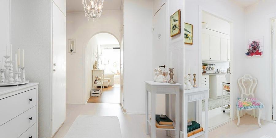 wystrój wnętrz, wnętrza, urządzanie mieszkania, dom, home decor, dekoracje, aranżacje, styl skandynawski, styl romantyczny, styl angielski, biel, miałe wnętrza, białe mieszkanie, przedpokój