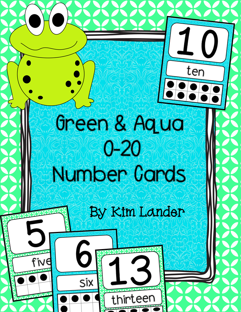 http://www.teacherspayteachers.com/Product/Green-and-Aqua-Number-Cards-0-20-1263708