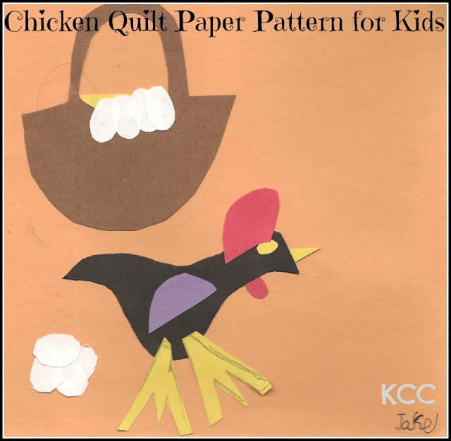 Chicken Quilting Squares Paper Craft