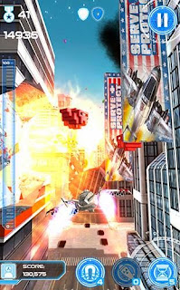 Screenshots of the Jet run: City defender for Android tablet, phone.