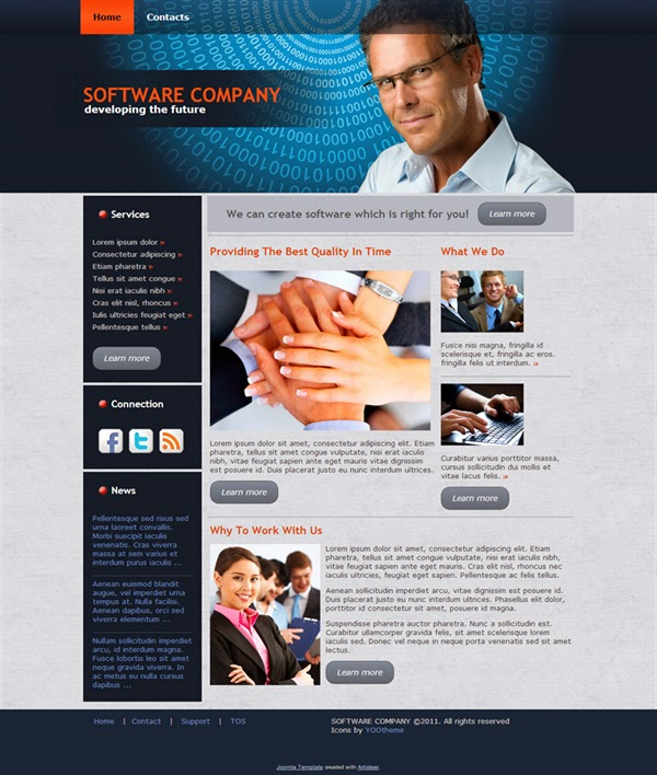 Software Company - Free Joomla! Template