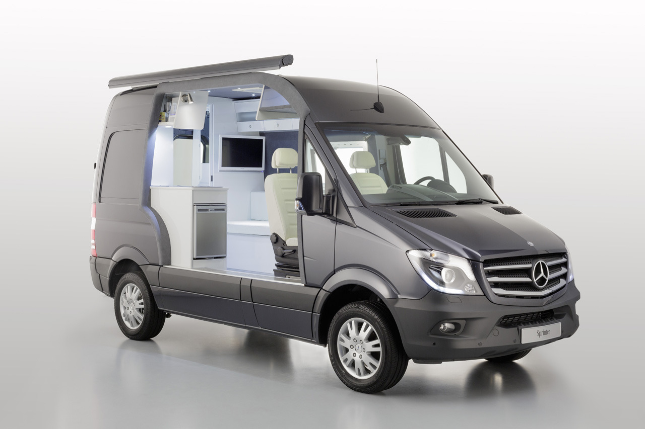 Automotiveblogz mercedes benz sprinter caravan concept for Mercedes benz sprinter camper van