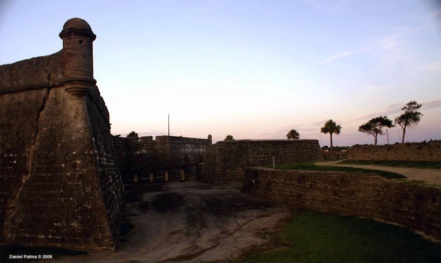 Castillo de San Marcos en San Agustín de la Florida