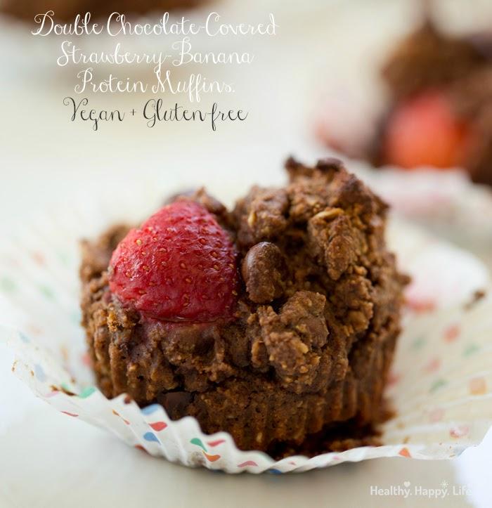 vegan chocolate protein muffins, gluten-free
