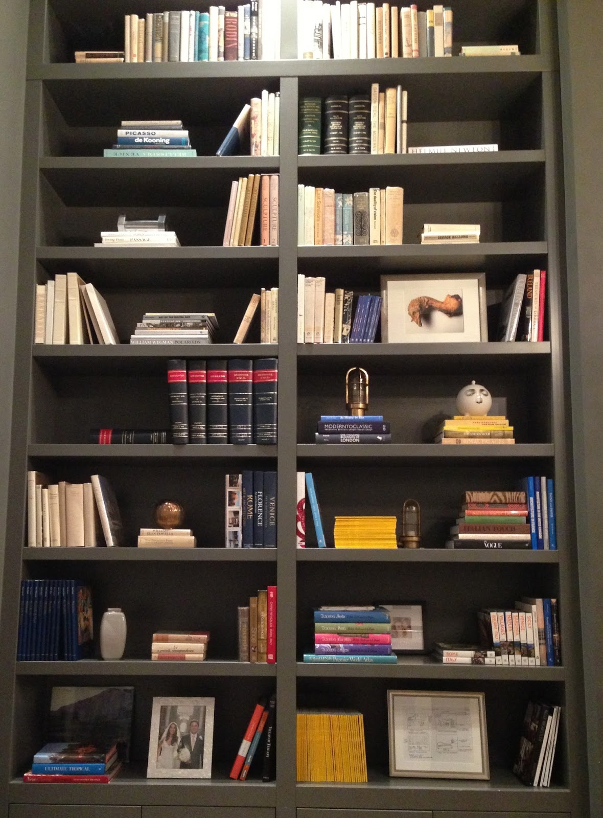 summer in newport: beautiful bookshelves